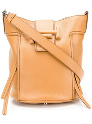Tod's Double T Bucket Bag Brown