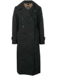 Aspesi Double Breasted Midi Coat Black