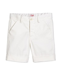 Il Gufo Flat Front Cuffed Shorts White Size 3T 4T