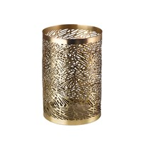 Pols Potten Pierced Candle Holder Brass Gold