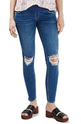 Topshop Women's 'Jamie' Ripped Skinny Maternity Jeans