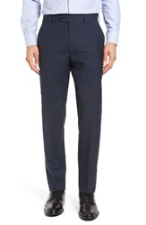 Todd Snyder Men's White Label Mayfair Flat Front Plaid Wool Trousers Dark Blue
