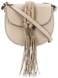 Altuzarra Fringed Crossbody Bag Nude Neutrals