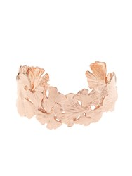 Aurelie Bidermann Ginkgo Rose Gold Plated Small Cuff