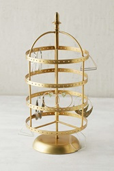 Plum And Bow Spinning Earring Organizer Bronze