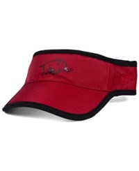 Top Of The World Arkansas Razorbacks Baked Visor Crimson