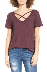 Women's Bp. Strappy Tee Burgundy Beauty