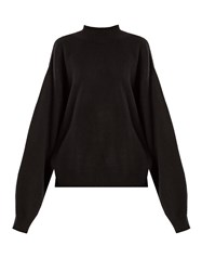 Raey Balloon Sleeve Cashmere Sweater Black