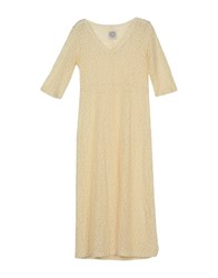 Pink Memories Dresses 3 4 Length Dresses Women Beige