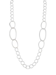 Ippolita Glamazon Sterling Silver Twisted Oval Link Necklace