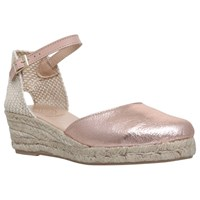 Kg By Kurt Geiger Minty Two Part Wedge Heeled Espadrilles Metal Comb