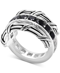 Peter Thomas Roth White Topaz 1 9 10 Ct. T.W. And Black Spinel Reversible Ring In Sterling Silver