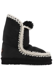 Mou 20Mm 24 Shearling Eskimo Boots Black