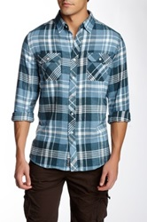 Micros Dark Teal Flannel Shirt Blue