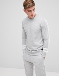 Only And Sons Sweatshirt With Arm Stripe Lgm Grey
