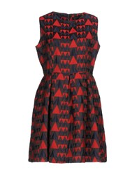 Anonyme Designers Short Dresses Red