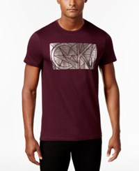 Calvin Klein Men's Foil Graphic Print T Shirt Purple
