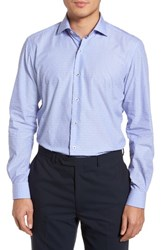 Culturata Tailored Fit Soft Touch Fil Coupe Sport Shirt Blue