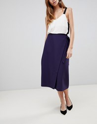 Asos Tailored Midi Simple Wrap Navy