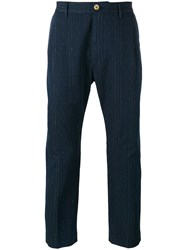 Pence Efrem Trousers Men Silk Cotton 44 Blue