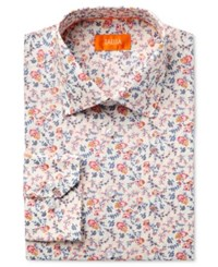 Tallia Men's Fitted Multi Color Floral Printed Ground Dress Shirt