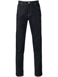 Versace Collection Straight Leg Jeans Blue