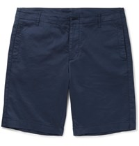 Albam Cadet Stretch Cotton Shorts Navy