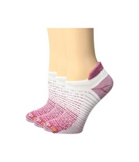 Drymax Sport Thin Running No Show Tab 3 Pack October Pink White No Show Socks Shoes