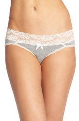 Women's Honeydew Intimates Lace Waistband Hipster Panties Heather Grey Seashell