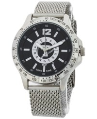 Game Time Texas Rangers Cage Series Watch Silver Black