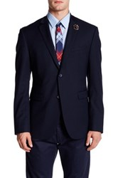 Original Penguin Solid Two Button Notch Lapel Jacket Blue