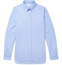 Mr P. Button Down Collar Cotton Oxford Shirt Blue