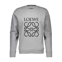 Loewe Anagram Cotton Sweatshirt Grey