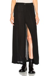 Ann Demeulemeester Slit Maxi Skirt In Black