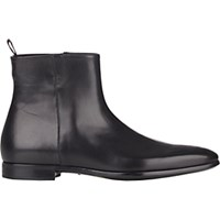 Giorgio Armani Men's Side Zip Ankle Boots Black Blue Black Blue
