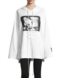 Fenty Puma By Rihanna Front Lacing Long Sleeve Hoodie White