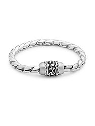 Lotus Tattoo Stainless Steel Bracelet Silver