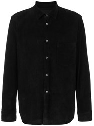 Comme Des Garcons Homme Plus Leather Shirt Black
