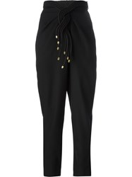 Jay Ahr Rope Detail High Waist Trousers Black
