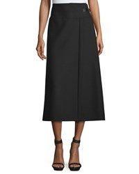 Cnc Costume National A Line Midi Skirt Black Women's