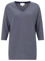 East Stripe Ribbed Jersey Top Ink