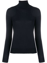 Cruciani Turtleneck Fitted Sweater Blue