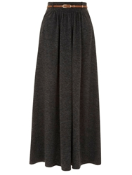 Yumi Match With Everything Maxi Skirt Grey