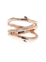 Shaun Leane Diamond And Rose Gold Plated Ring