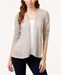 Styleandco. Style And Co. Open Front Lace Back Cardigan Only At Macy's