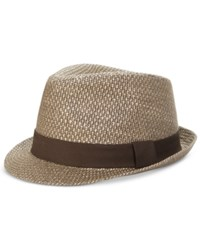 Levi's Men's Straw Fedora Brown