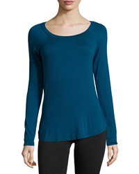 Babakul Open Back Long Sleeve Raglan Tee Teal