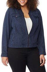 96949fd67db Rebel Wilson X Angels Plus Size Lightweight Denim Jacket Dark Chambray