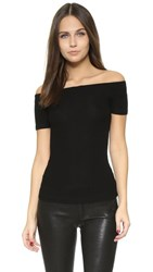 Getting Back To Square One Off Shoulder Tee Black