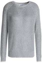 Zoe Karssen Metallic Knitted Sweater Silver